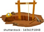 mine. old lifting mechanism.... | Shutterstock .eps vector #1656191848