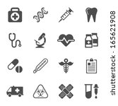 Medical Icons On White...