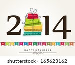 happy new year 2014 celebration ...   Shutterstock .eps vector #165623162