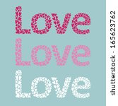 st. valentine's day card. love.  | Shutterstock .eps vector #165623762