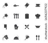 cooking utensils vector icons... | Shutterstock .eps vector #1656237922