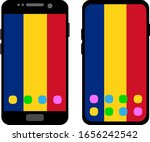 two black smartphones with a... | Shutterstock .eps vector #1656242542