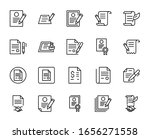 contract line icon set....   Shutterstock .eps vector #1656271558