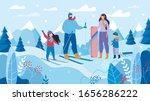 happy family skiing ... | Shutterstock .eps vector #1656286222