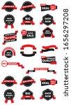 set of flat design sale... | Shutterstock .eps vector #1656297208
