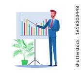businessman giving speech and...   Shutterstock .eps vector #1656303448