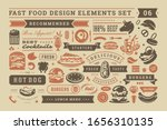 fast food and street signs and... | Shutterstock .eps vector #1656310135