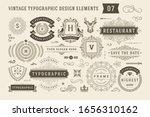 vintage typographic design... | Shutterstock .eps vector #1656310162