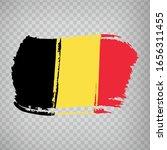 flag of belgium from brush...