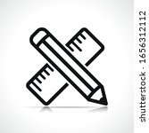 vector pencil symbol icon design | Shutterstock .eps vector #1656312112