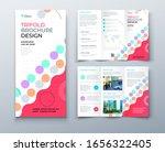 tri fold brochure design with... | Shutterstock .eps vector #1656322405