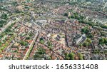 Aerial Drone View Of Delft Town ...