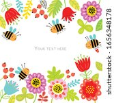 floral background for text with ... | Shutterstock .eps vector #1656348178