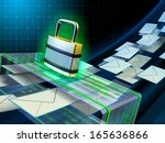 email stream passing through a... | Shutterstock . vector #165636866
