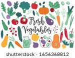 set of fresh vegetables   onion ...   Shutterstock .eps vector #1656368812