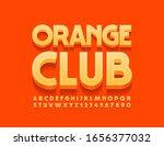 vector bright logo orange club. ...   Shutterstock .eps vector #1656377032