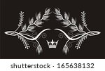 wheat  frame  with crown | Shutterstock .eps vector #165638132