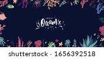 world oceans day hand lettering ... | Shutterstock .eps vector #1656392518