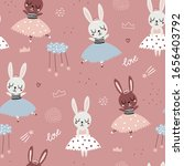 childish seamless pattern with...   Shutterstock .eps vector #1656403792