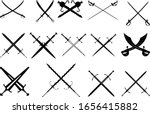 a large set of fourteen crossed ... | Shutterstock .eps vector #1656415882