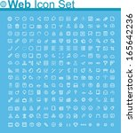 vector web page icon set | Shutterstock .eps vector #165642236