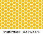 Yellow Honeycomb Background....