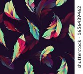seamless feather background... | Shutterstock . vector #1656439462