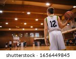 Junior Basketball Players On A...