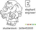 Elephant Engineer Abc Coloring...