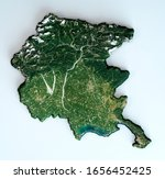 Satellite View Of The Friuli...
