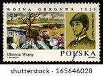 poland   circa 1985  a stamp... | Shutterstock . vector #165646028