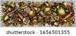 fastfood hand drawn cartoon... | Shutterstock .eps vector #1656501355