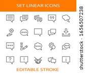 set of speech bubble chat...   Shutterstock .eps vector #1656507238