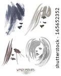 anthropomorphic stains | Shutterstock . vector #165652352
