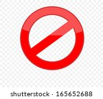 not allowed sign | Shutterstock .eps vector #165652688