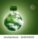 Green Planet. Ecology Concept....