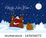 happy new year. text is easily... | Shutterstock .eps vector #165656072