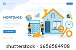 mortgage concept. house loan or ... | Shutterstock .eps vector #1656584908