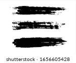 black ink paint stroke...   Shutterstock .eps vector #1656605428