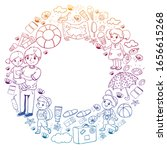 vector pattern. summer... | Shutterstock .eps vector #1656615268