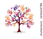 the tree from the hand prints.... | Shutterstock .eps vector #1656626788