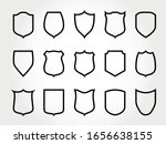 line shield. force shielded... | Shutterstock .eps vector #1656638155