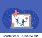 social media concept. smm. cute ...   Shutterstock .eps vector #1656652405