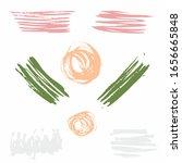 rainbow different brush strokes ... | Shutterstock .eps vector #1656665848