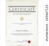 certificate template | Shutterstock .eps vector #165667115