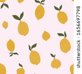 Lemon Texture. Exotic Fruit...