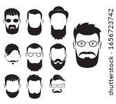 set of bearded men silhouette...   Shutterstock .eps vector #1656723742