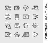 data analysis vector icons set | Shutterstock .eps vector #1656743152