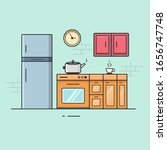 kitchen flat vector... | Shutterstock .eps vector #1656747748