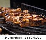 Close Shot Of Chicken Kebabs...